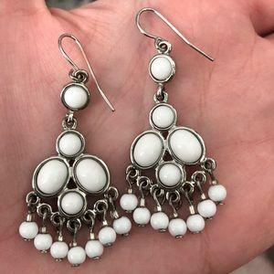 FREE W PURCHASE White Statement Earrings